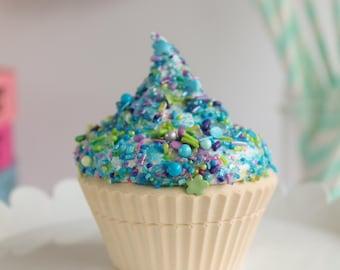 Full Sprinkle Cupcake- Fake cupcake, prop cupcake, party decor