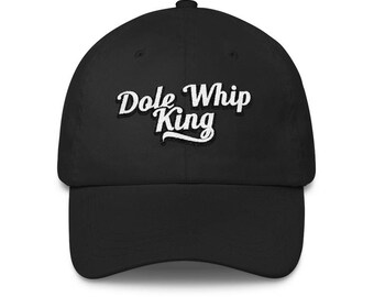 Dole Whip King Classic Embroidered Baseball Hat