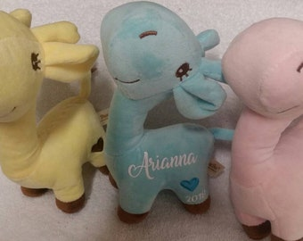 Personalized baby gifts, personalized giraffe, stuffed giraffe, personalized stuffed animal, baby shower gift, personalized gifts