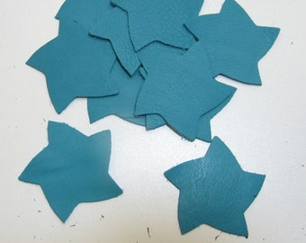 Leather Starfish Shape in Blue  (12 pcs)