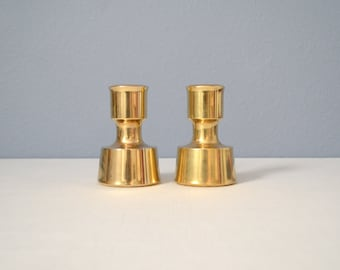 Pair of Vintage Dansk Brass Candle Holders by Jens Quistgaard