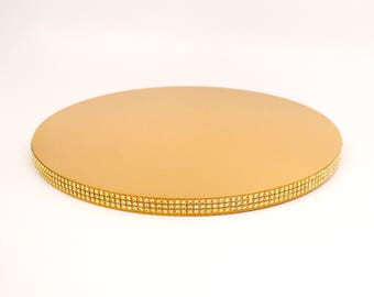 Gold Jeweled Cake Stand Plate Party Wedding Platter Cupcake Display Cake Table Decor  sc 1 st  Etsy & Personalized Gold Cake Stand Plate Personalized Cake Plate