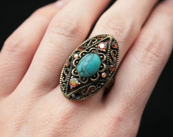 Gypsy Ring Bohemian Ring Boho Ring women Ring vintage unique modern ring old jewel stylish ring Statement Ring tribal Jewellery women's ring