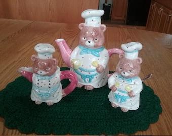 Vintage Three Bears Tea Set