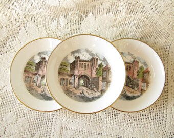 Vintage Royal Worcester Small Plates Vintage small Dish Vintage Pin Dishes Made for Kay Co Pin Tray Trinket Dish Butter Pat Dish Bone China