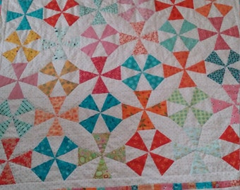 Bright Colorful Kaleidoscope Quilt