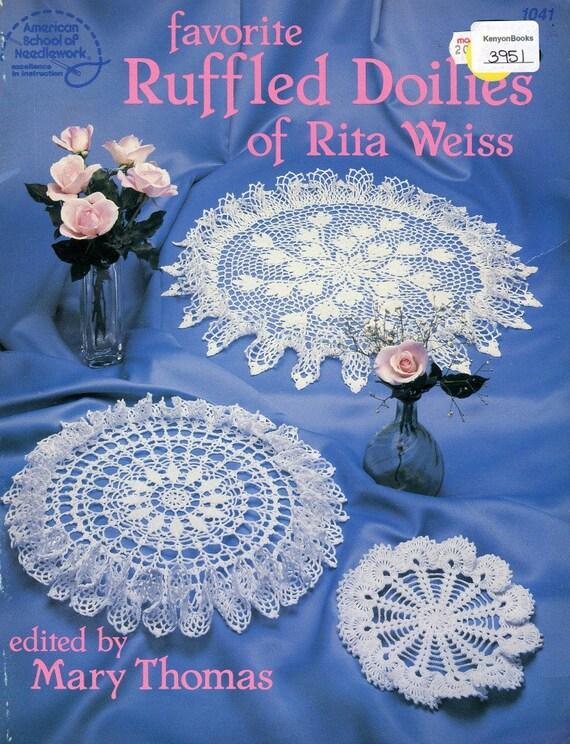 Ganchillo tapetes hermoso 6 patrón libro - Crochet de hilo de ...