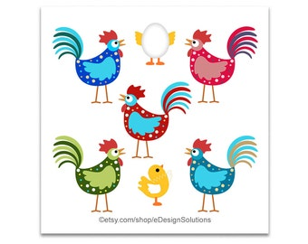 Cartoon Chicken, Chicken Clipart, Hen Clipart, Clipart Chicken, Clipart Hen, Baby Chick Clipart