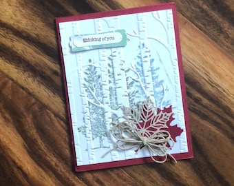 Thinking of You, autumn card
