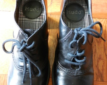 Awesome 90's MUDD Lace-Up Vegan Shoes w/ Chunky Platform Heel Size 6
