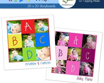 20x20 ABCD Kid Storyboards - Photographer Template