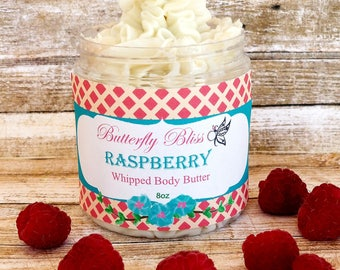 Whipped Body Butter | Raspberry Whipped Body Butter | Raspberry Lotion | Shea Body Butter | Natural Body Butter | Natural Lotion | gifts
