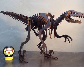 Roarrr!!! - Not selling... as my kids would not be happy if I sold it! Iron T.Rex, circa 1970.