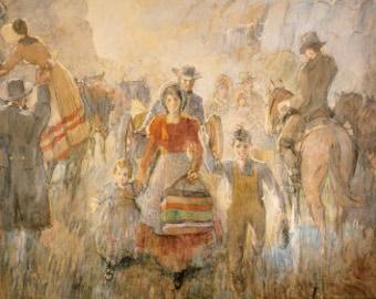 Pioneers Arriving - by Minerva Teichert
