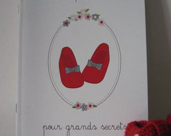 NOTEBOOK RED SLIPPERS