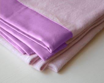 """Baby Blanket -Organic Cotton Fleece (Soft Pink) -Large 35""""x51"""" Made in USA"""