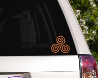 Celtic Triple Spiral Car Window Decal