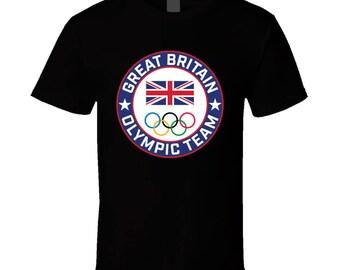 Great Britian Winter Olympic Team Pyeongchang 2018 Round Logo T Shirt