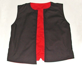 Reversible Boys Lined Vest