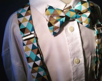 Bow tie and Suspenders children geometric patterns