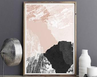 Abstract Wall Art Print - Living Room Art - Fine Art Print - Large Wall Art - Minimalist print - A3 Print - A2 Print