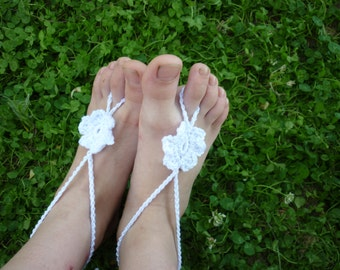 PATTERN Crochet children Baby Barefoot Sandals, Baby Flower Barefoot Sandals, Baby Foot accessories, kids Photo prop, Beach Pool Anklet