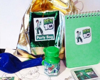 Ben10 Party bag loot bag with 8 items inside