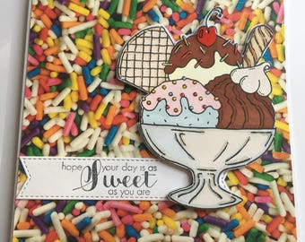 Hundreds and Thousands Ice Cream Card