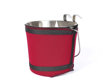 Feed Bucket Holder; Canine Buck-It! Cover fits the 2Q, 4Q & 6Q Burgham S.S.T. buckets