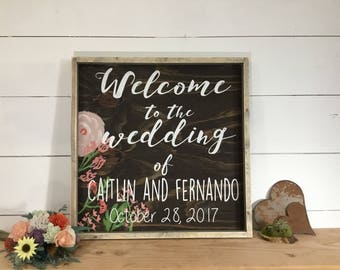 Bride Groom Rustic Wedding Sign - Rustic Wedding Sign - Custom Wood Wedding Sign -  Rustic Wedding Decoration - Welcome Signs