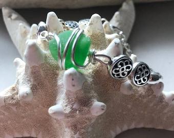 Celtic Sea Glass Bracelet
