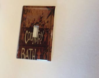 Country Bath single Switch plate light cover