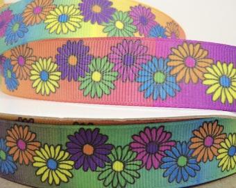 7/8 inch x 10 yds Grosgrain Floral Fantasy-Multi