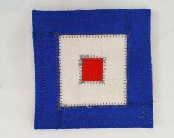 Nautical signal flag W coaster