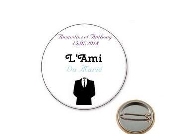 Custom friend wedding - Ø25mm pin badge
