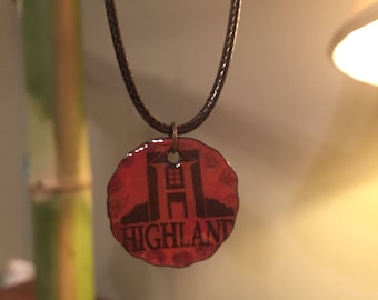 Red highland logo enameled goodness