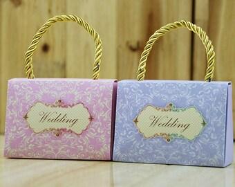 handbag Box-handbag Gift Bags - Candy Box- Birthday Boxes -Party Boxes -Birthday Party -Gift Box -Favor Boxes -Wedding Favor