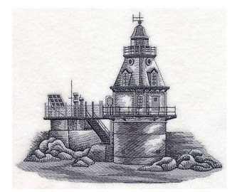 Custom Embroidered Ship John Shoal Lighthouse Sweatshirt S-3XL