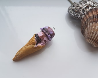 Ice Cream Cone Polymer Clay Charm