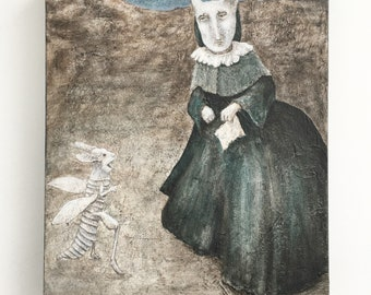 The Widow James Original Acrylic Painting