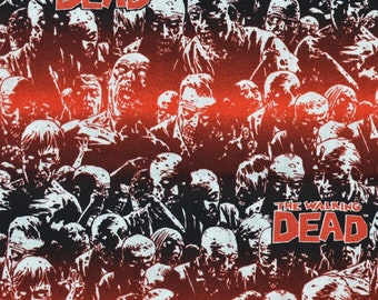 """Walking Dead Zombies Allover fabric, by the half yard, 43-44"""" wide, 100% cotton, walking dead fabric, The walking dead, zombie fabric"""