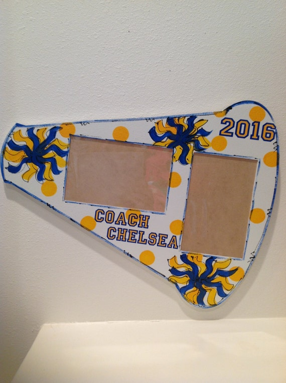 Cheerleading gift frame megaphone personalized