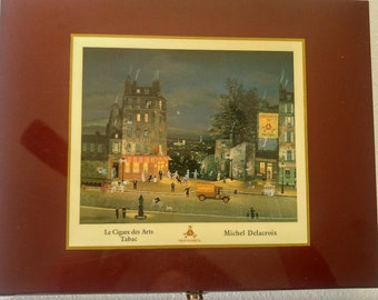 Montecristo Laquered cigar humidor box with Le Cigare Des Arts Tabac by Michel Delacroix.