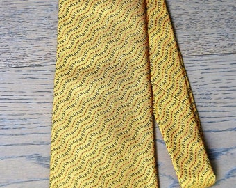 Bulgari silk yellow tie