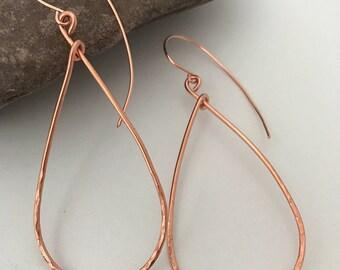 Corrine copper teardrop earrings