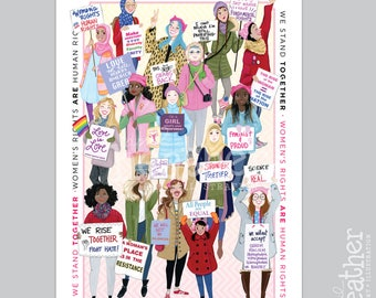 Women's March POSTER- poster print || Women's Rights || Equal Rights Poster PRINT