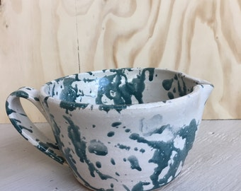 Vintage pottery mixing bowl kitchen decor