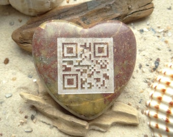 Heart QR code I love you engraving unique-heart-lucky charm-engraving-marble-Unique