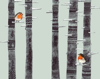 Robin Trees // A5 print 5x8
