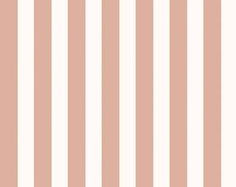 Yes Please Stripes in Rose Gold and Cream - Yes Please fabric collection from from Riley Blake - 100% cotton quilting fabric